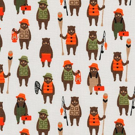 Robert Kaufman Andie's Minis 18165-267 Fishing Bears
