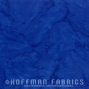 Hoffman Bali Watercolor 1895-17 Cobalt Goes with MSU -Blue