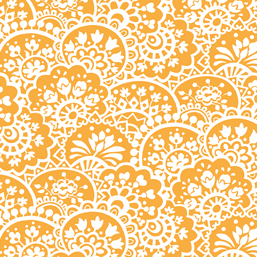 Benartex Bree 2133-22 Orange Paisley by Nancy Halvorsen
