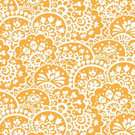 Benartex Bree 2133-22 Orange Paisley by Nancy Halvorsen