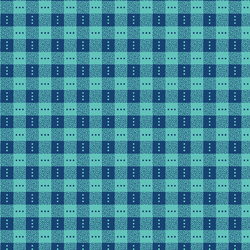 Benartex Bree 2136-55 Blue Check by Nancy Halvorsen