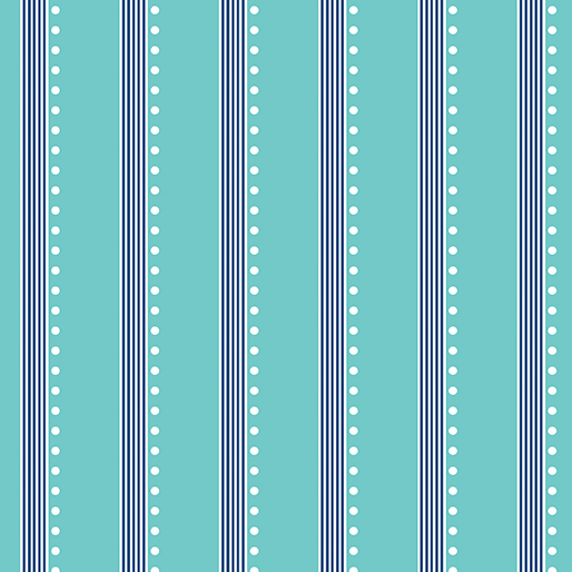 Benartex Bree 2139-24 Aqua Stripe by Nancy Halvorsen