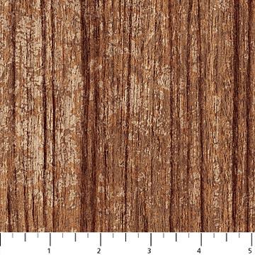 Northcott Naturescapes 21399-35 Rust Wood Texture