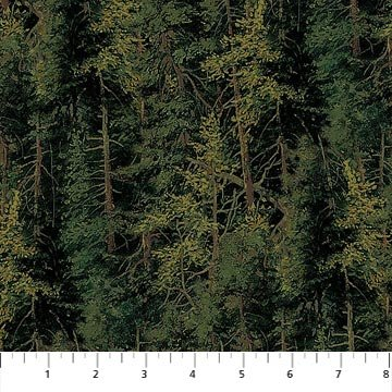 Northcott Naturescapes 21408-79 Dark Green Trees