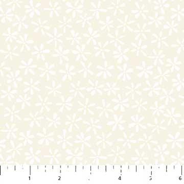 Northcott Simply Neutral 22137-11 Cream Flowers