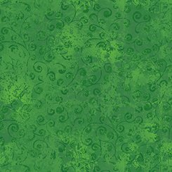 Quilting Treasures Quilting Temptations 22542-GF Dark Green with Tonal Swirls
