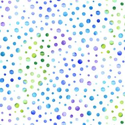 Quilting Treasures Mimosa 24025-ZB DOTS WHITE/BLUE