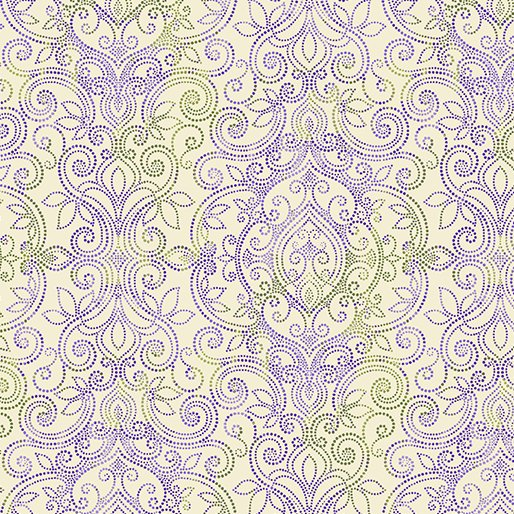 Benartex Accent on Pansies 2569-99 Cream Damask