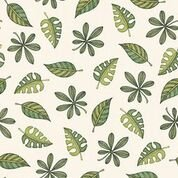 Quilting Treasures Jungle Buddies 26415 E Cream leaves