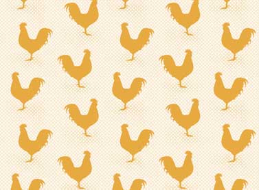 Red Rooster A Day On The Farm 26440-Gol/Cre1 Cream Gold Chickens