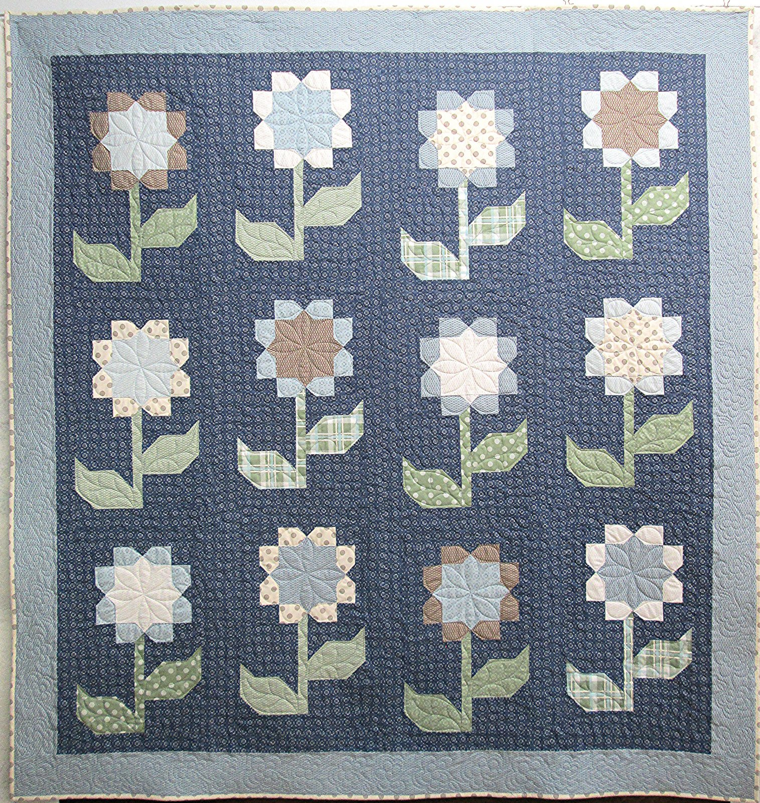 Cottage Blossoms Quilt Sample 77 x 81.5