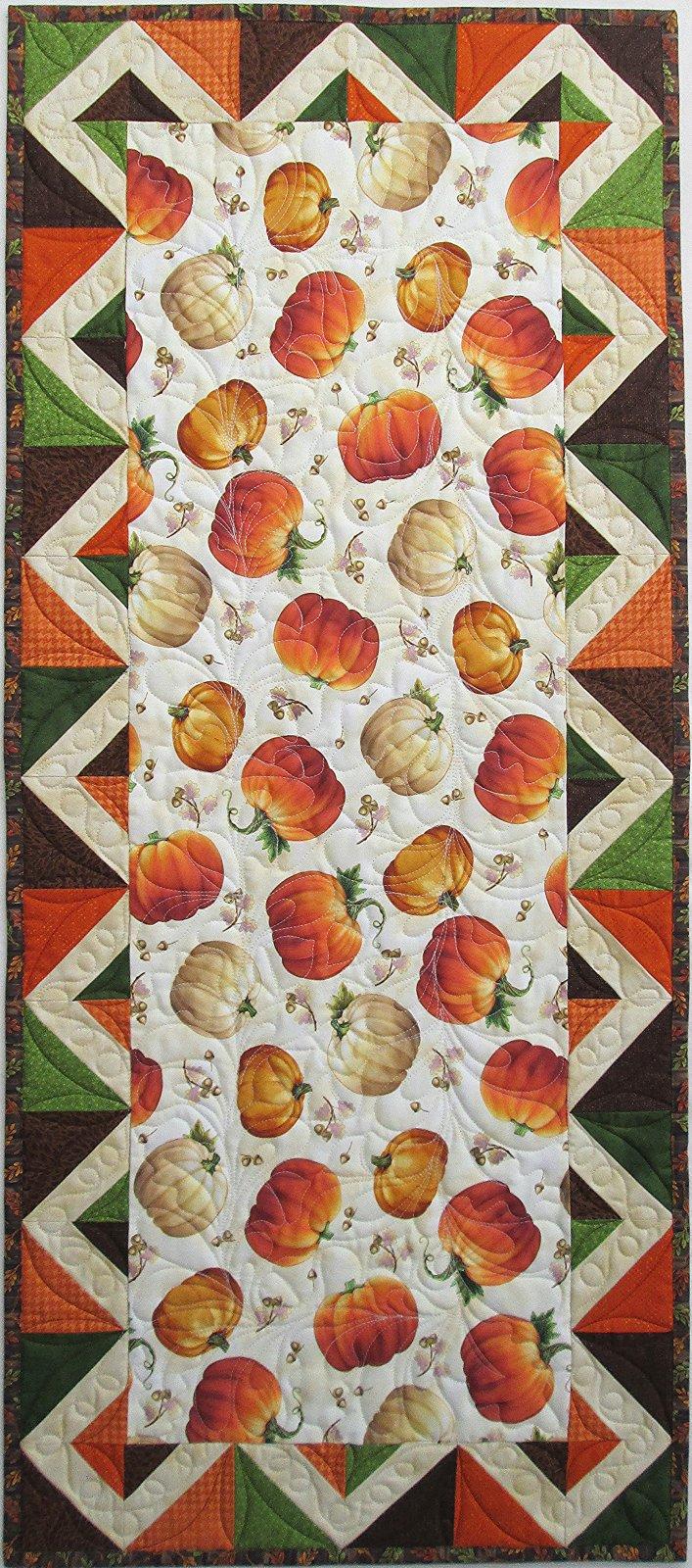 Harvest Elegance Pumpkin Table Runner Sample