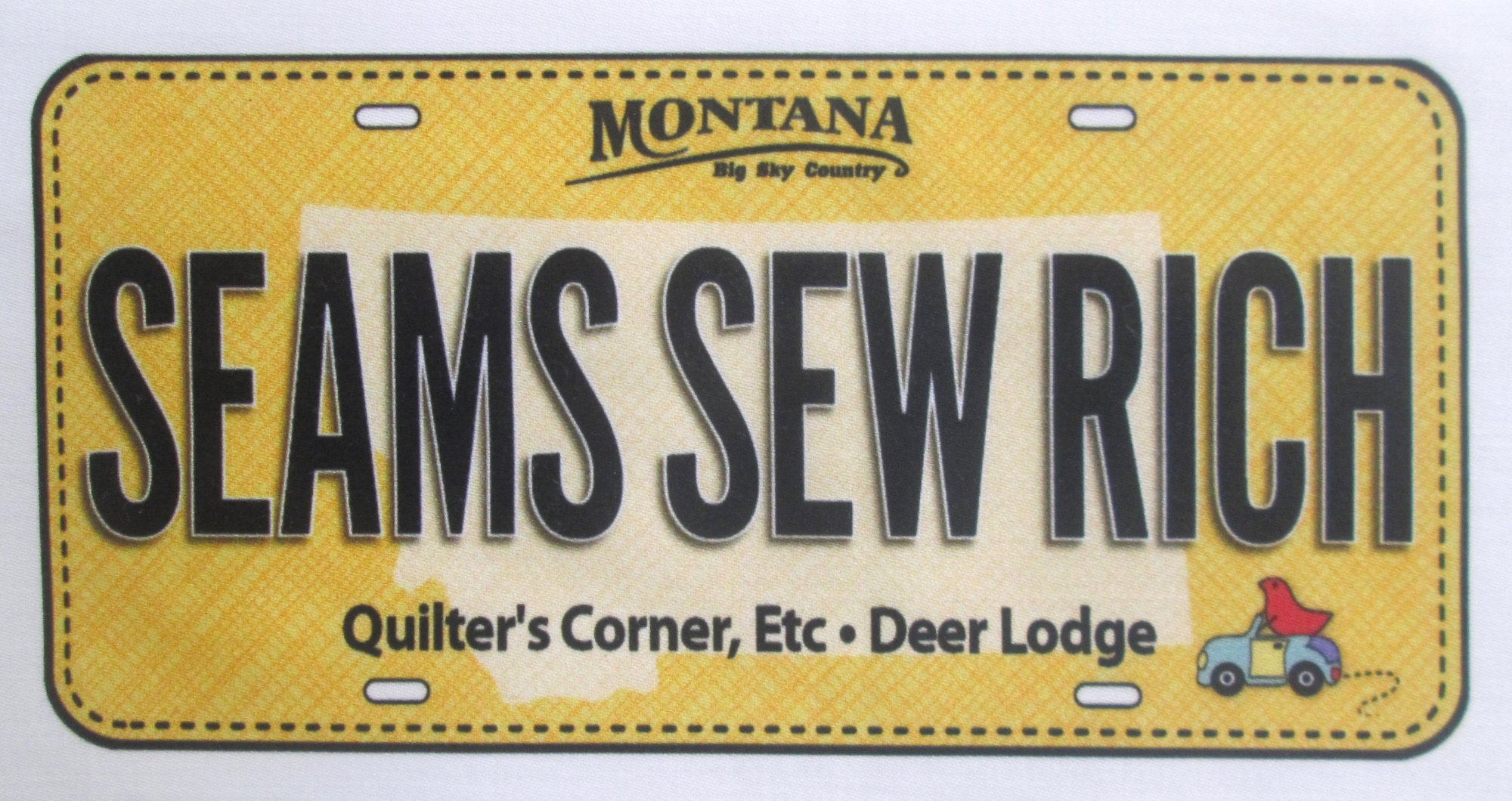 Quilter's Corner Etc 2017 Row By Row License Plates