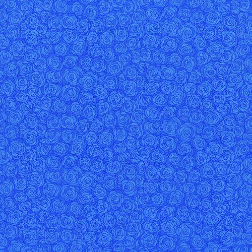 RJR Hopscotch 3216-1 Light Blue Packed Tonal Roses Tonal By Jamie Fingal