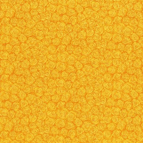 RJR Hopscotch 3216-2 Yellow Packed Tonal Roses Tonal By Jamie Fingal