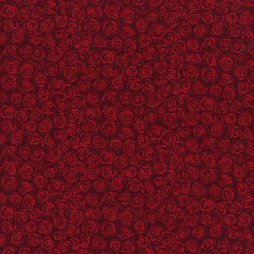 RJR Hopscotch 3216-3 Dark Red Packed Tonal Roses Tonal By Jamie Fingal