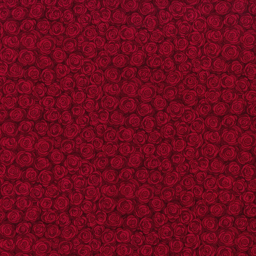 RJR Hopscotch 3216-5 Red Packed Tonal Roses Tonal By Jamie Fingal