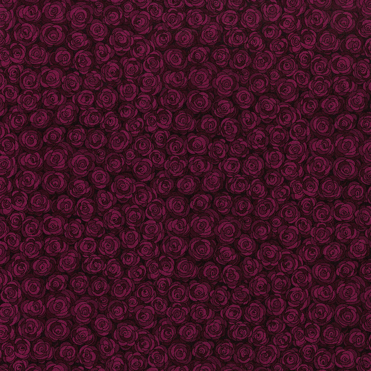 RJR Hopscotch 3216-6 Purple Packed Tonal Roses Tonal By Jamie Fingal