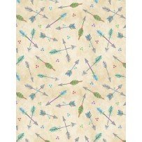 Wilmington Prints Humming Along 33834-237 Arrows on Cream
