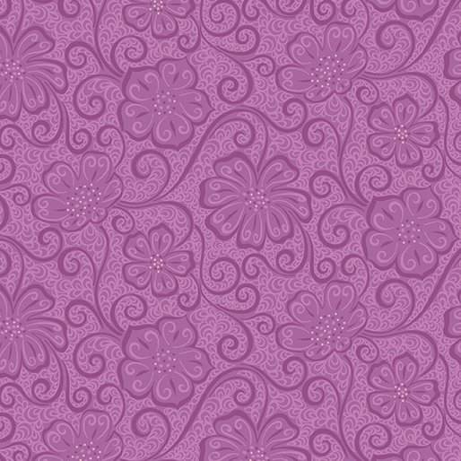 Benartex Contempo Meadow Dance 04044-66 Purple Plum Floral Blender