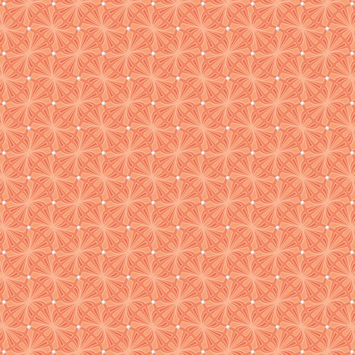 Benartex Contempo Meadow Dance 04046-28 Orange Diamonds