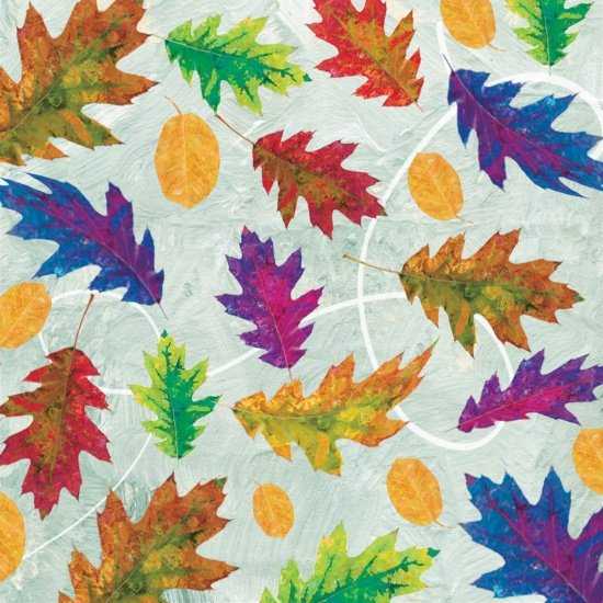 Studio E Autumn Hues 4206-11 Blue with leaves