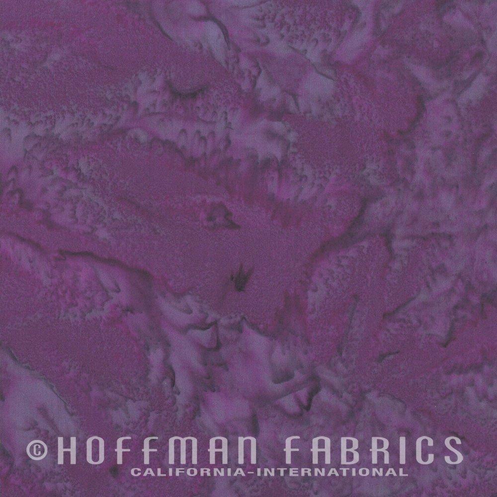 Hoffman Bali Watercolor 1895-423 Purple Marsala