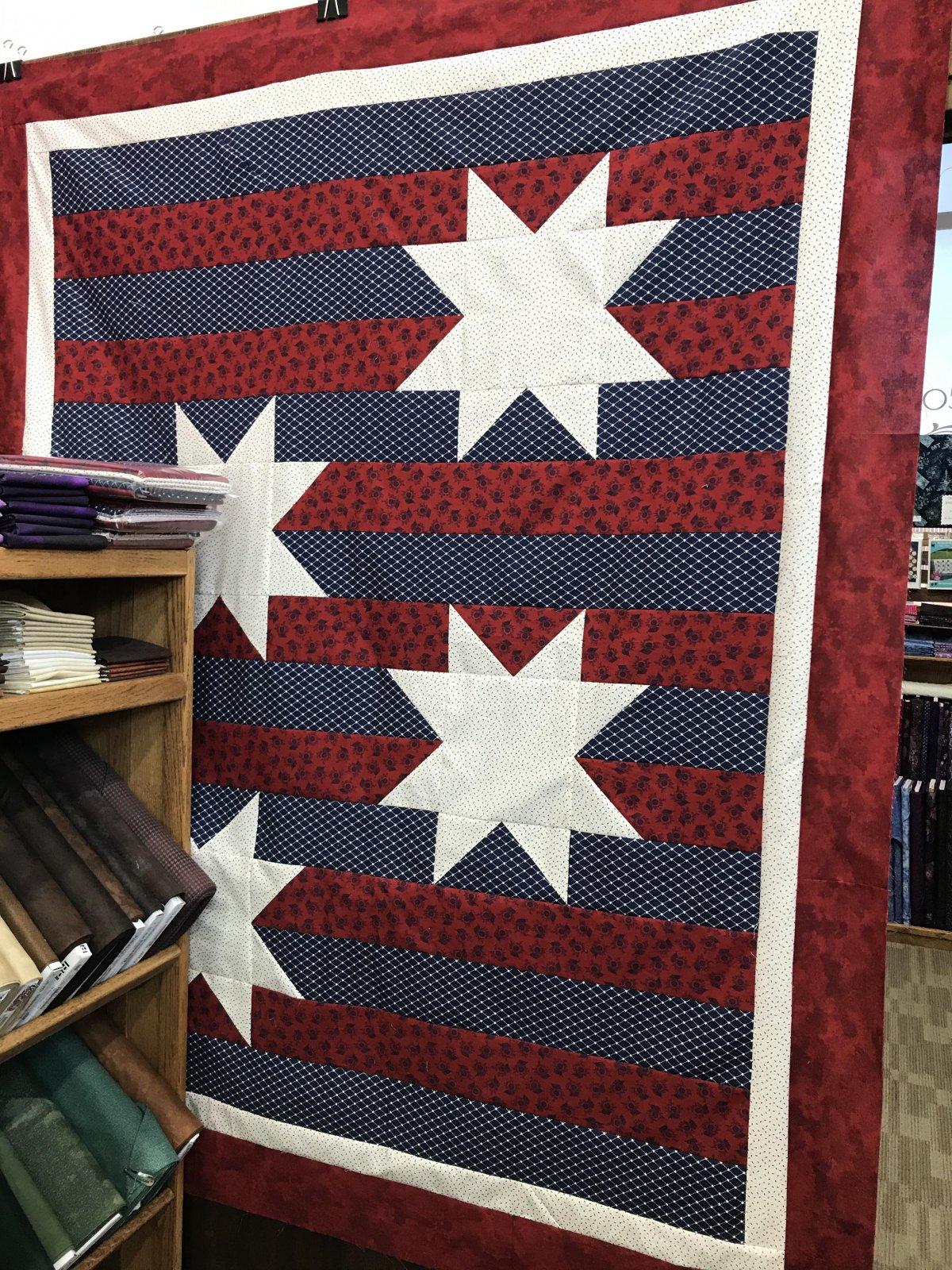 American Gathering Star Spangled Quilt Kit