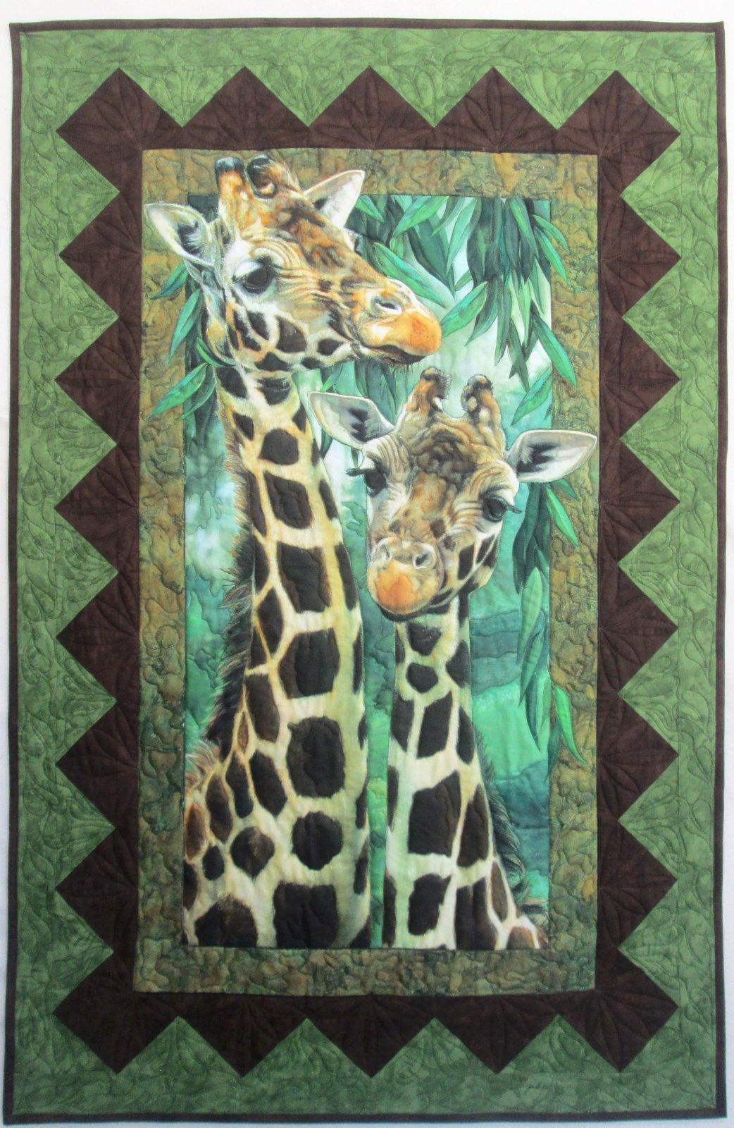 Artworks Giraffe Go Bananas Quilt or Wall Hanging Sample 33 x 51