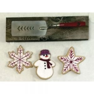 Artsi2 3 Sugar Cookies Laser Cut Ornament Kit