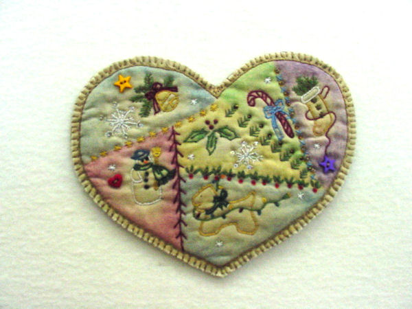 Chickadee Hollow Designs Vintage Ornament #2 Heart