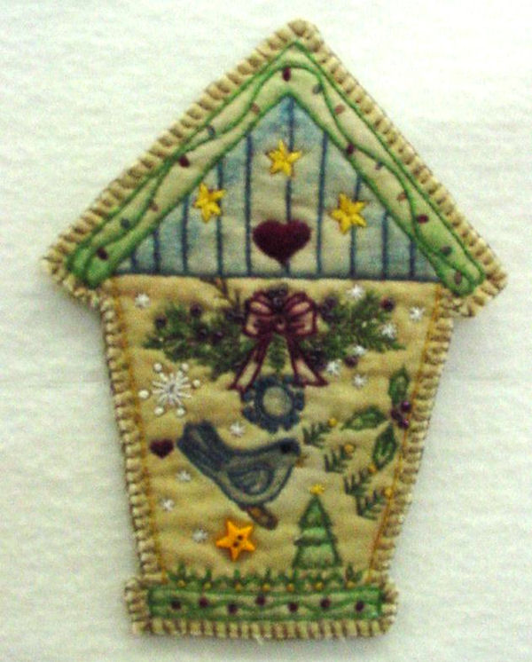 Chickadee Hollow Designs Vintage Ornament #6 Birdhouse