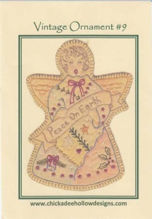 Chickadee Hollow Designs Vintage Ornament #9 Angel