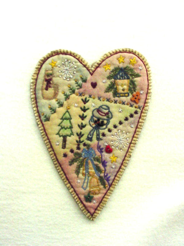 Chickadee Hollow Designs Vintage Ornament #10 Heart