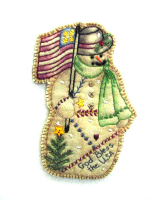 Chickadee Hollow Designs Vintage Ornament #11 Snowman