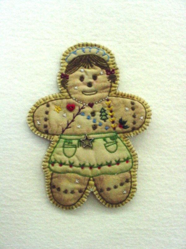 Chickadee Hollow Designs Vintage Ornament #16 Gingerbread Girl