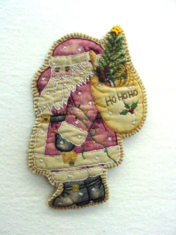Chickadee Hollow Designs Vintage Ornament #17 Santa