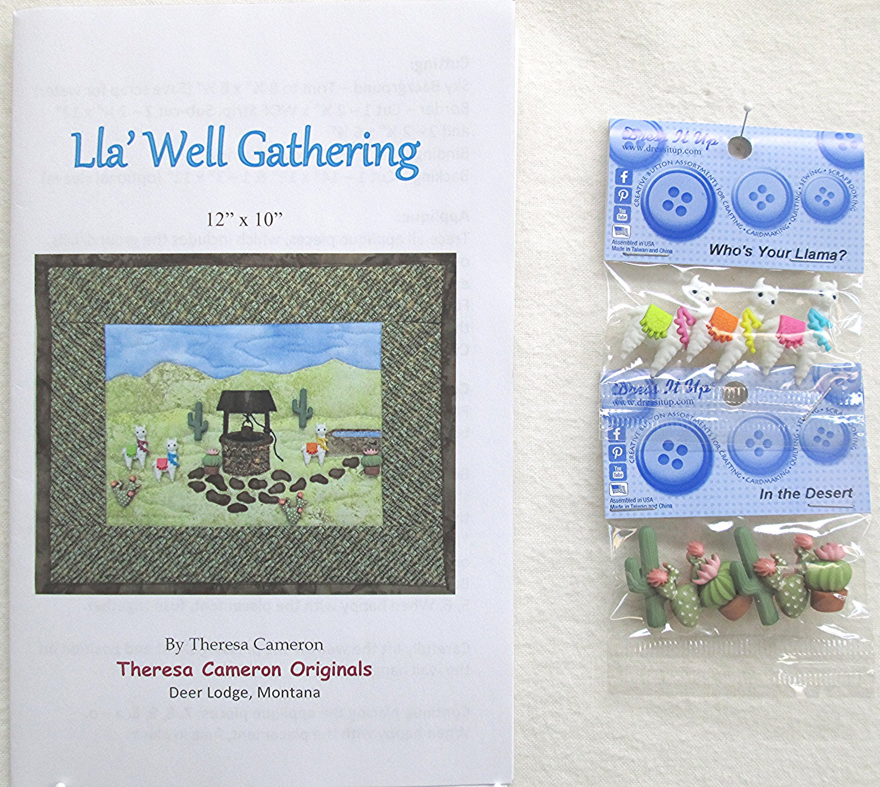 Lla' Well Gathering Pattern and Buttons