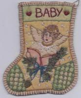 Chickadee Hollow Designs Jingle Sock #7 ANGEL CHDJO7