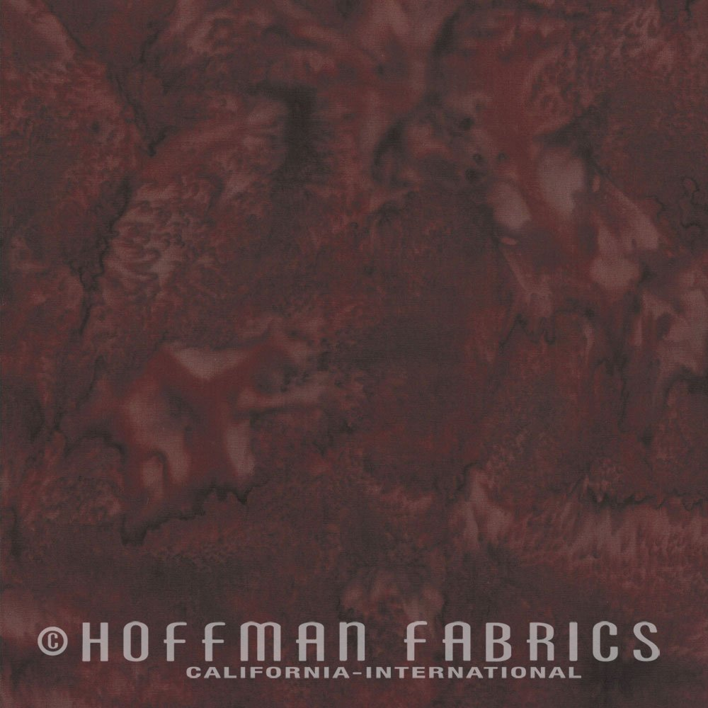 Hoffman Bali Watercolor 1895-533 Nightshade Maroon Goes with Griz Batiks