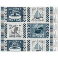 Wilmington A Day at the Lake 59101-949 Pillow/Placemat Panel