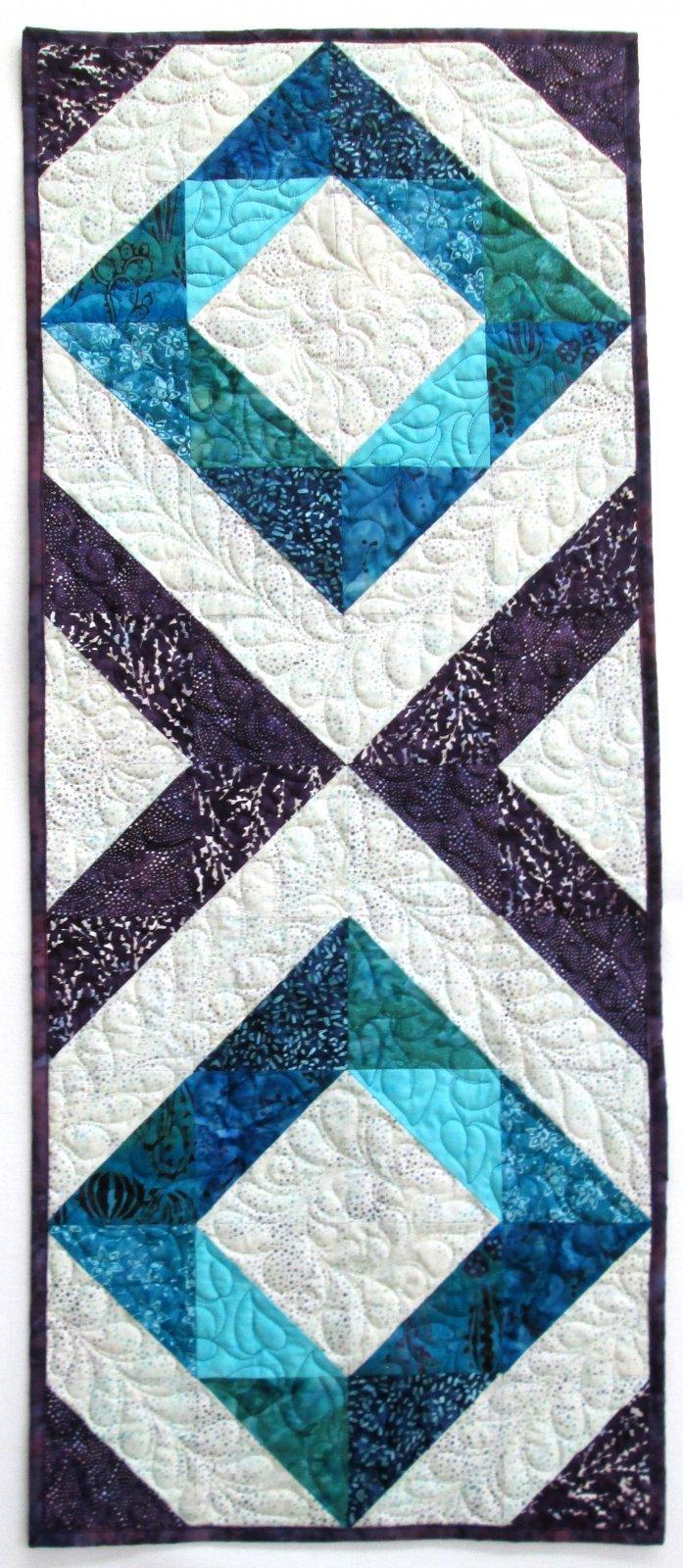 Creek Side Stitches Fair and Square Batik Table Runner KIT