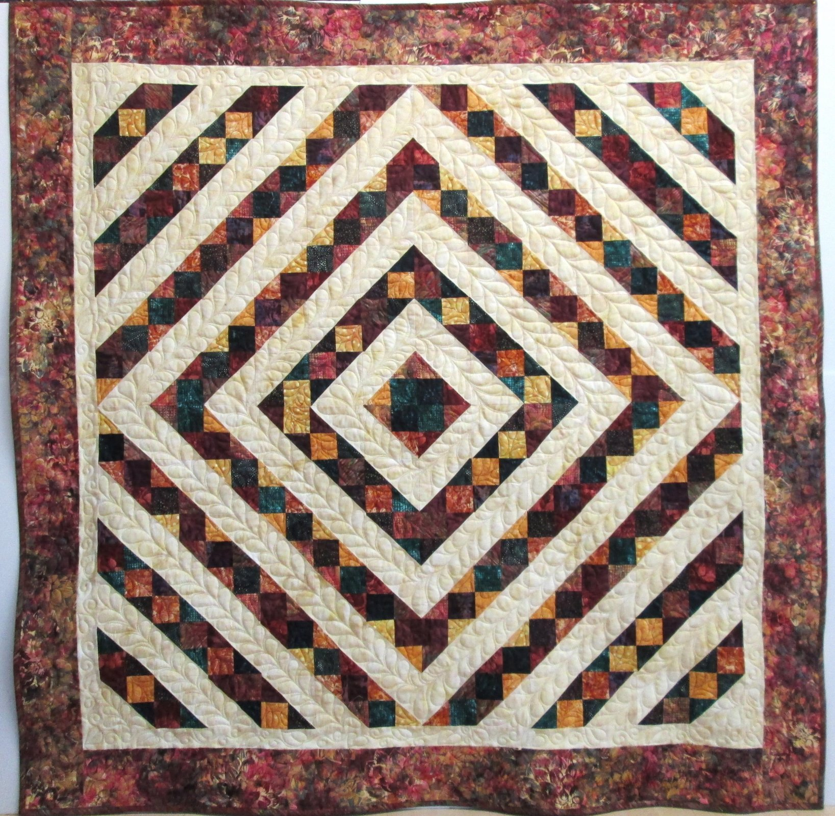 Batik Dancing Dots Quilt Kit