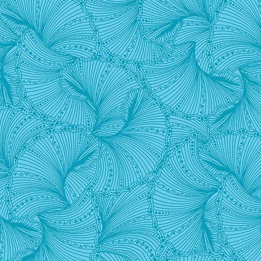 Benartex Peacock Flourish by Ann Lauer 6857-83 Teal Fans