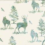 Hoffman Bali Batik R2256-536 Deer Aquarius