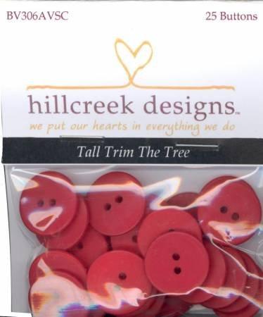 Hillcreek Tall Trim the Tree Button Pack 25 Buttons BV306AVSC