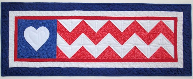2016 Row By Row Batik Flag Pattern Home Sweet Home 9 1/2X36 1/2