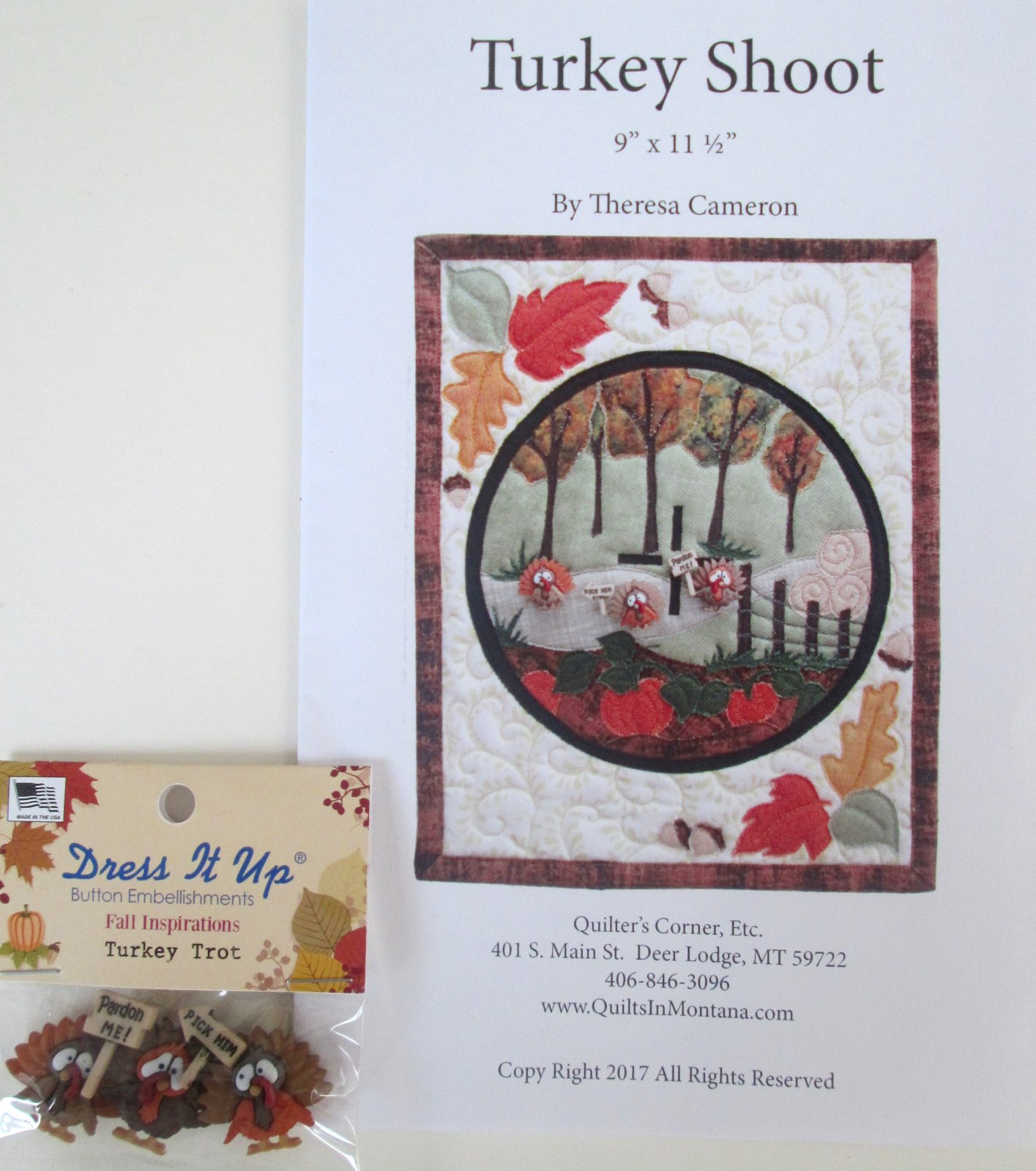 Turkey Shoot Pattern with Buttons