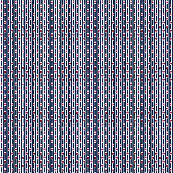 Andover Allegiance 9607-B Tiny Star Stripe