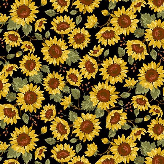 Andover Sunflower Field 9789-K Sunflower Field Black